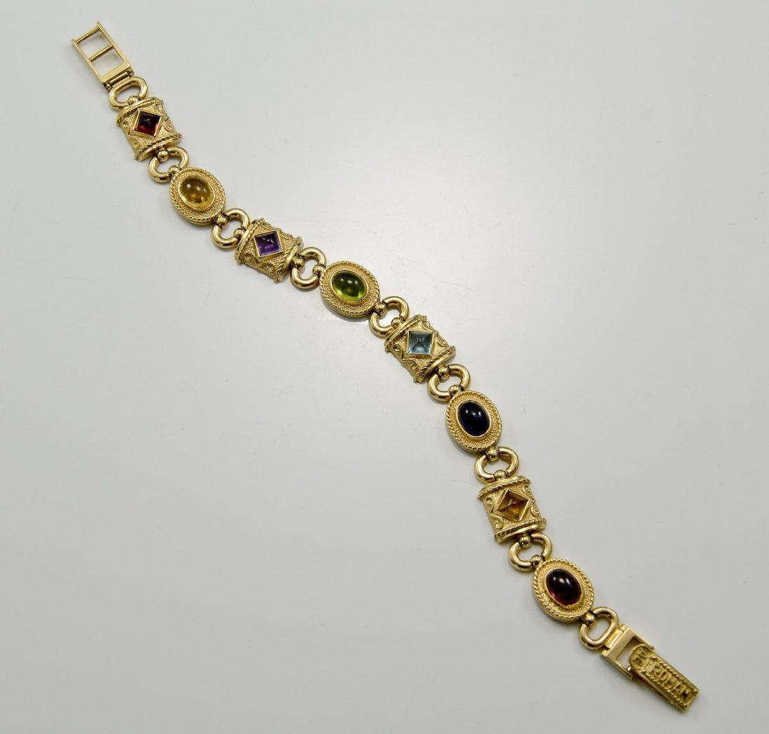Ladies 14K Byzantine Style Bracelet