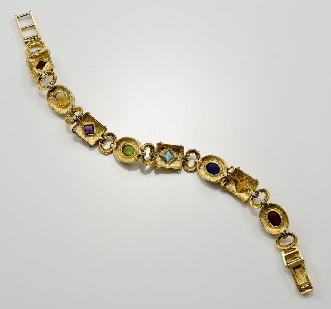 Ladies 14K Byzantine Style Bracelet - 2