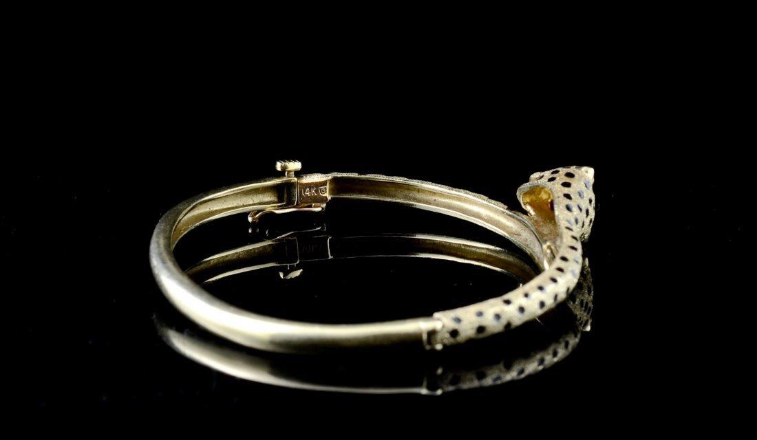 Ladies 14K Leopard Form Bracelet - 2