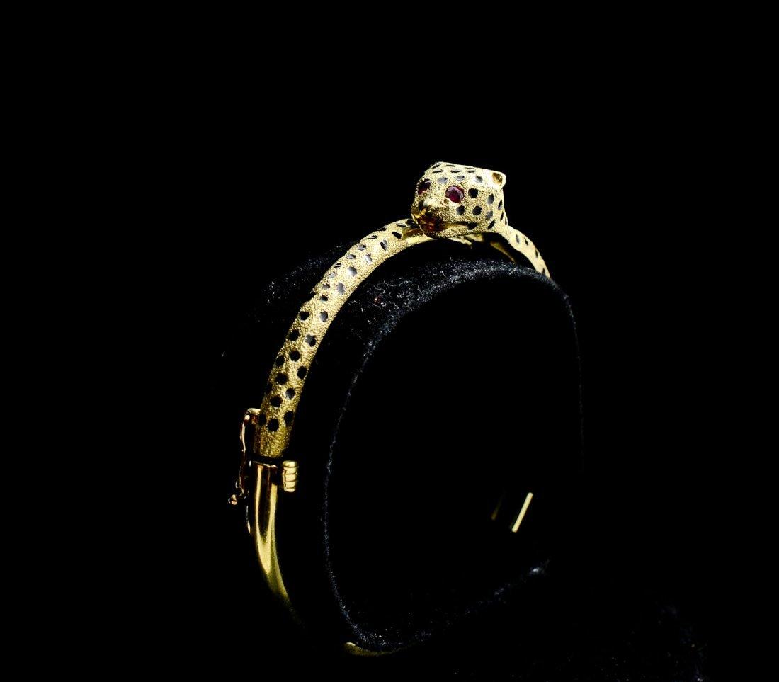 Ladies 14K Leopard Form Bracelet - 3