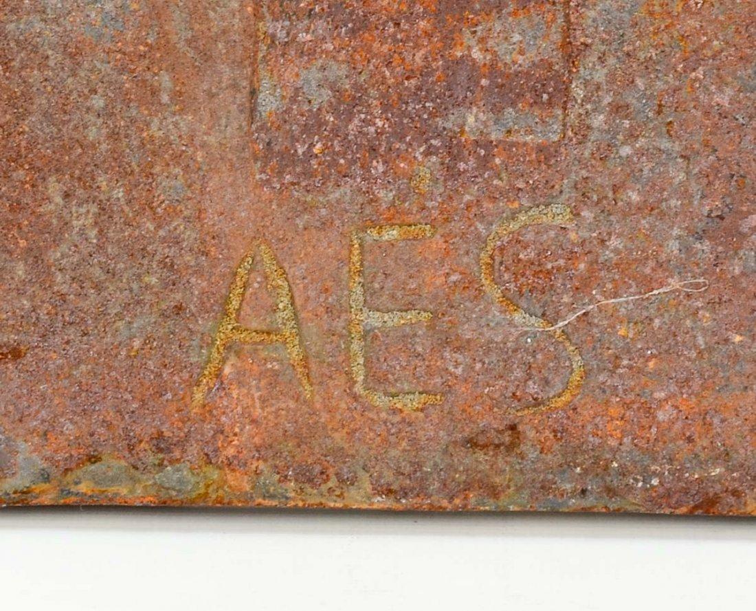Cast Iron Fireback Dated 1781 - 3