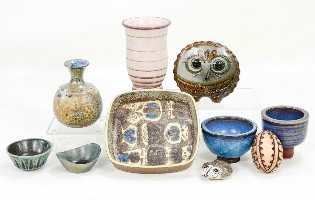 Group of Danish and Swedish Pottery