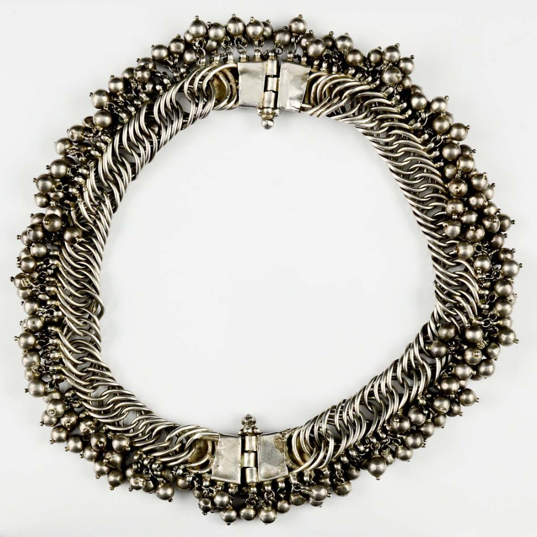 Tribal or Bedouin Silver bib necklace - 3