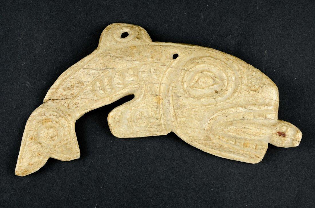 Northwest Coast carved Bone Fish