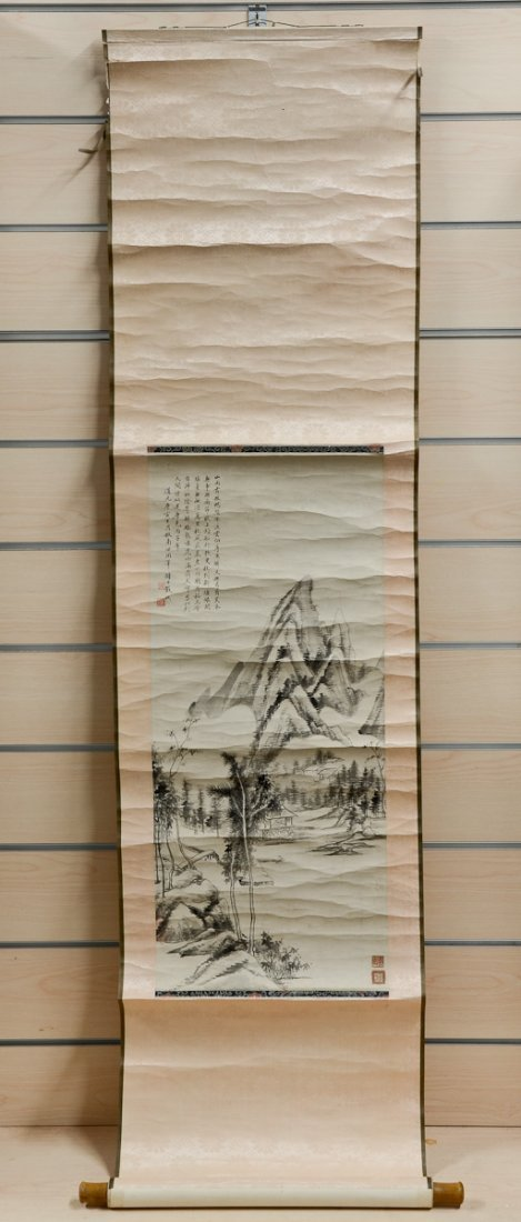 Chinese watercolor Scroll Painting - 3