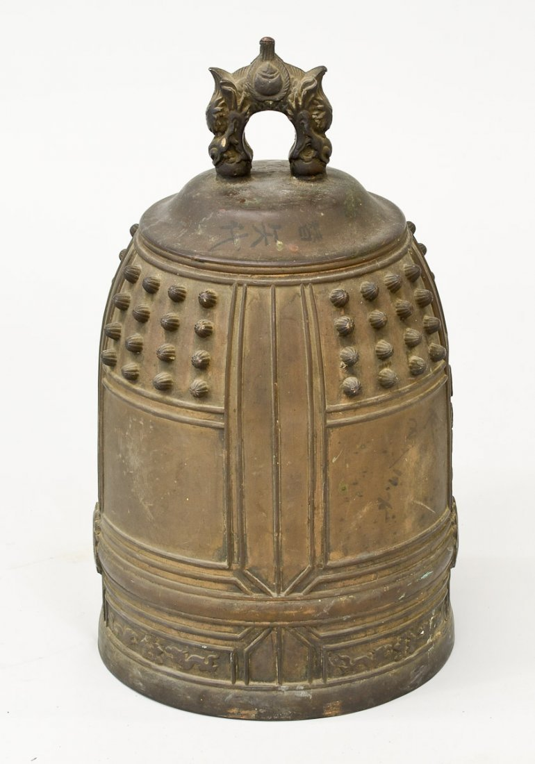 Japanese Bronze Temple Bell