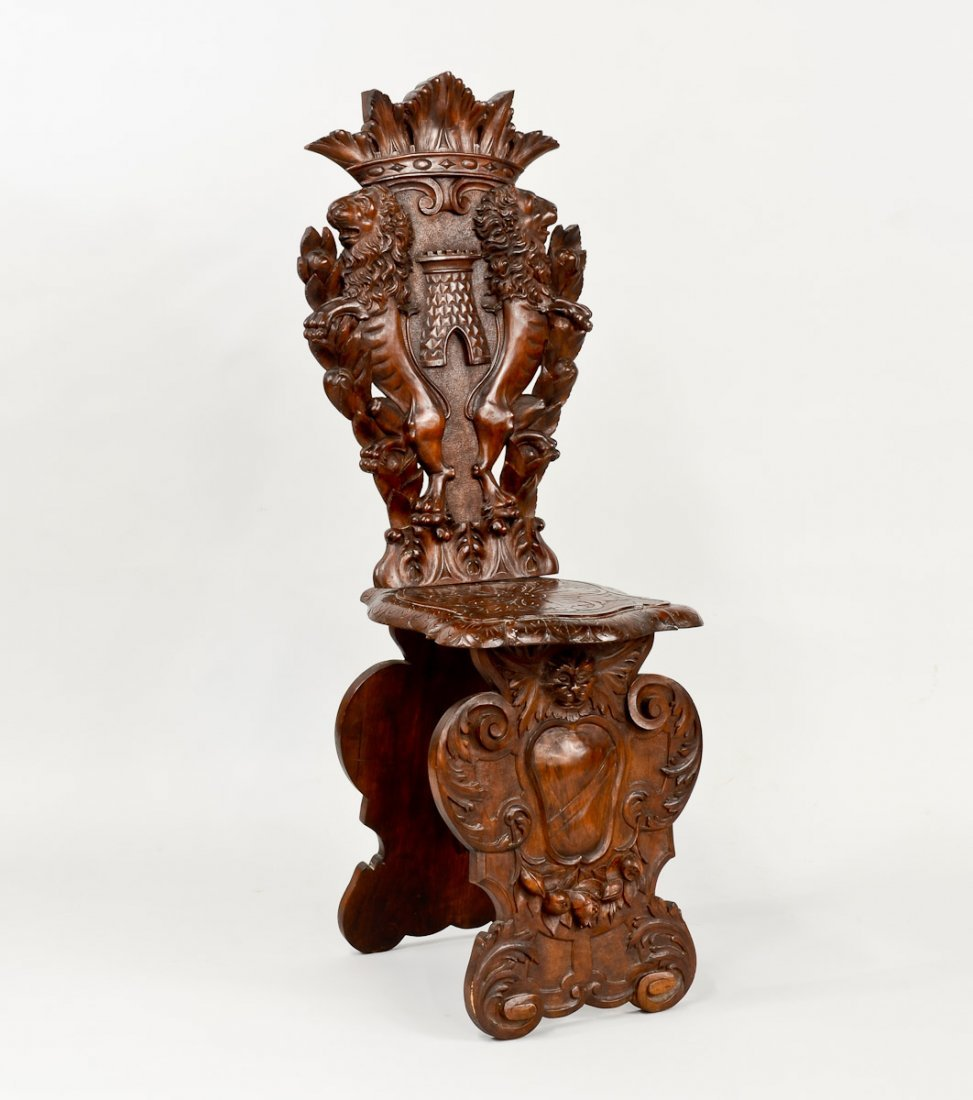 Sgabello Carved Chair