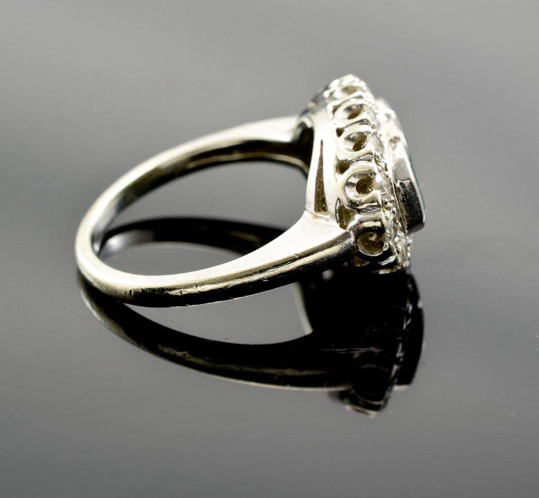 Art Deco Emerald and Diamond Ring - 2