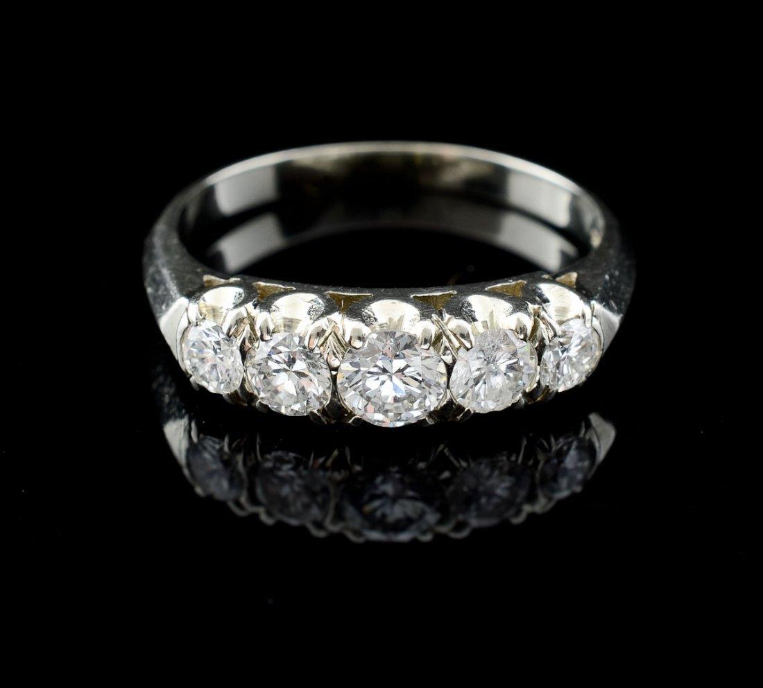 Ladies 14K Diamond Wedding Band