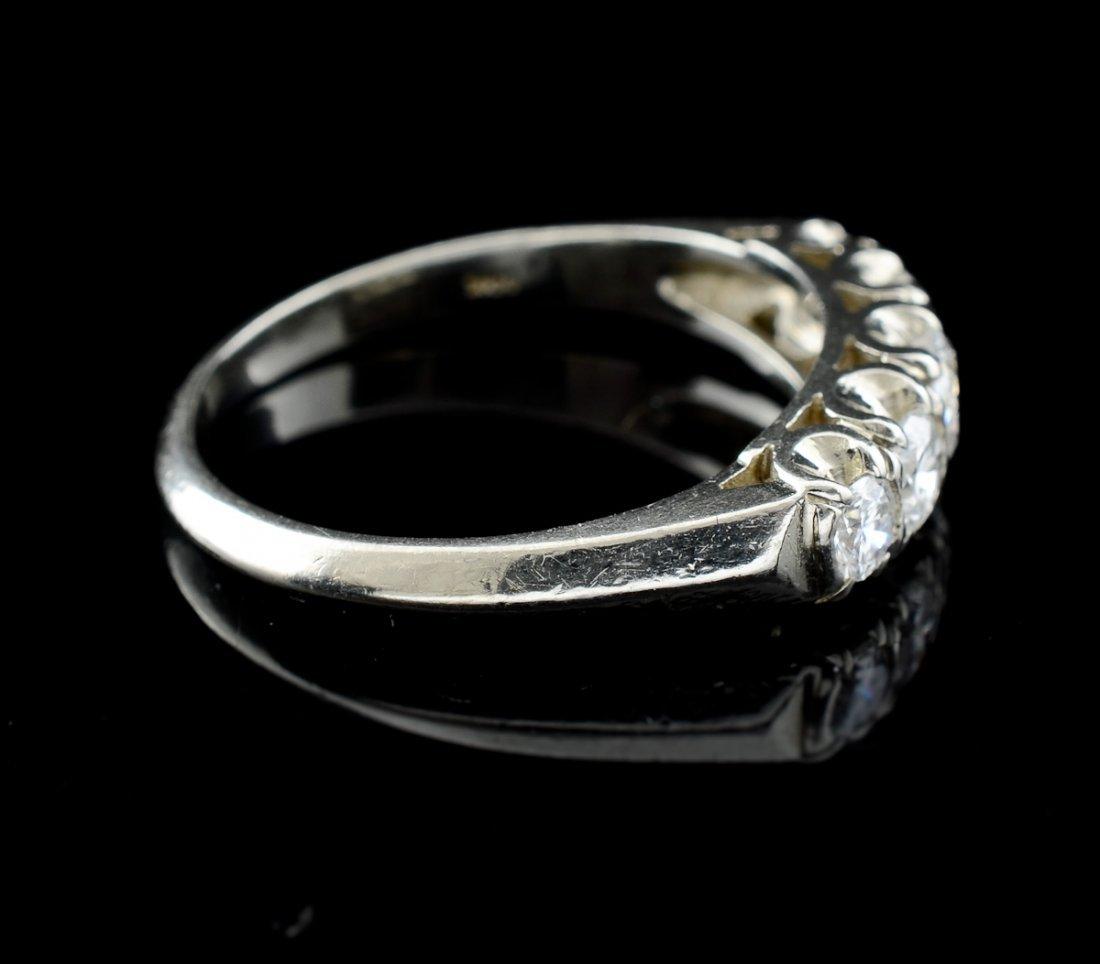 Ladies 14K Diamond Wedding Band - 2