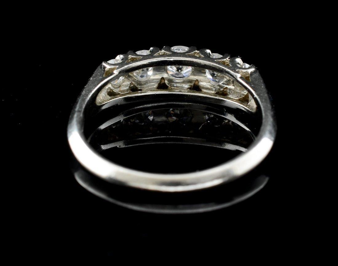 Ladies 14K Diamond Wedding Band - 3