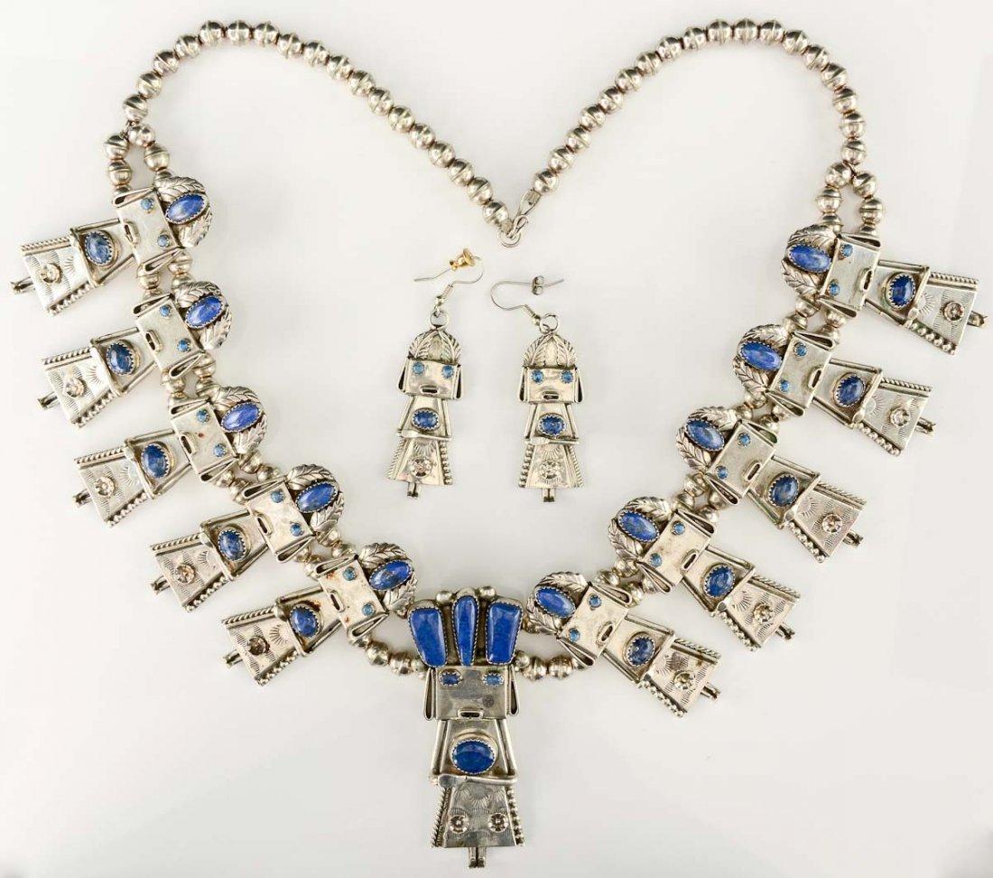 Native American Silver Kachina Necklace