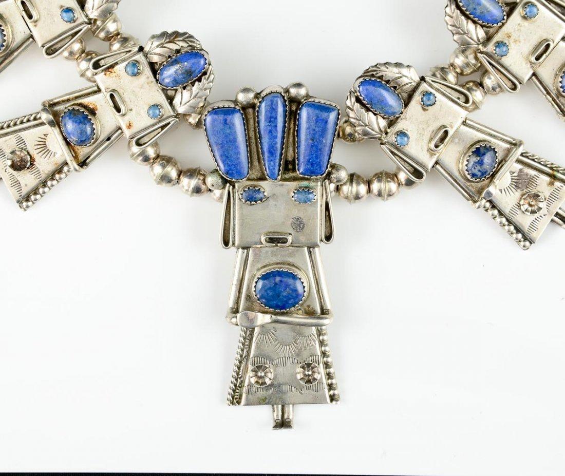 Native American Silver Kachina Necklace - 2