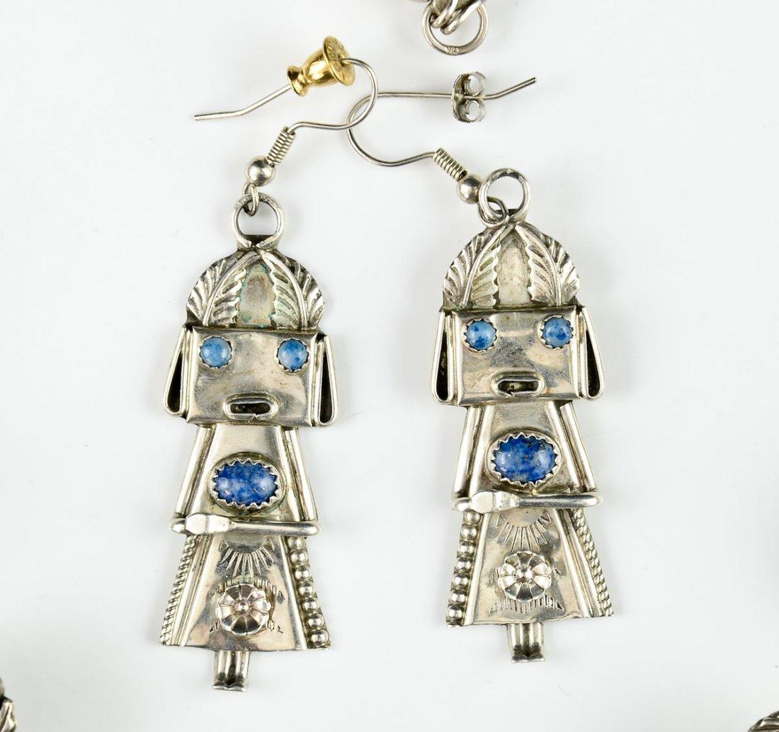 Native American Silver Kachina Necklace - 3