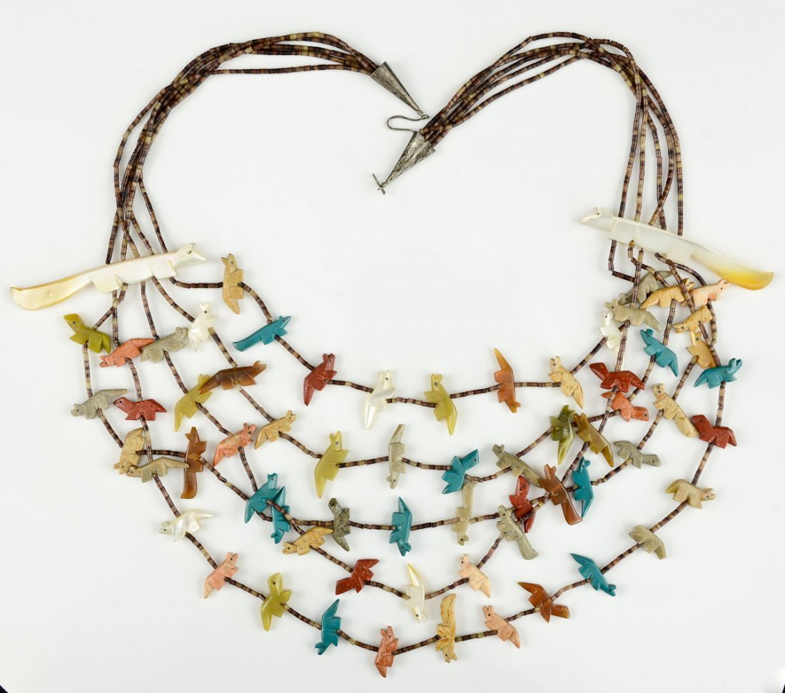 Native American Indian Fetish Necklace