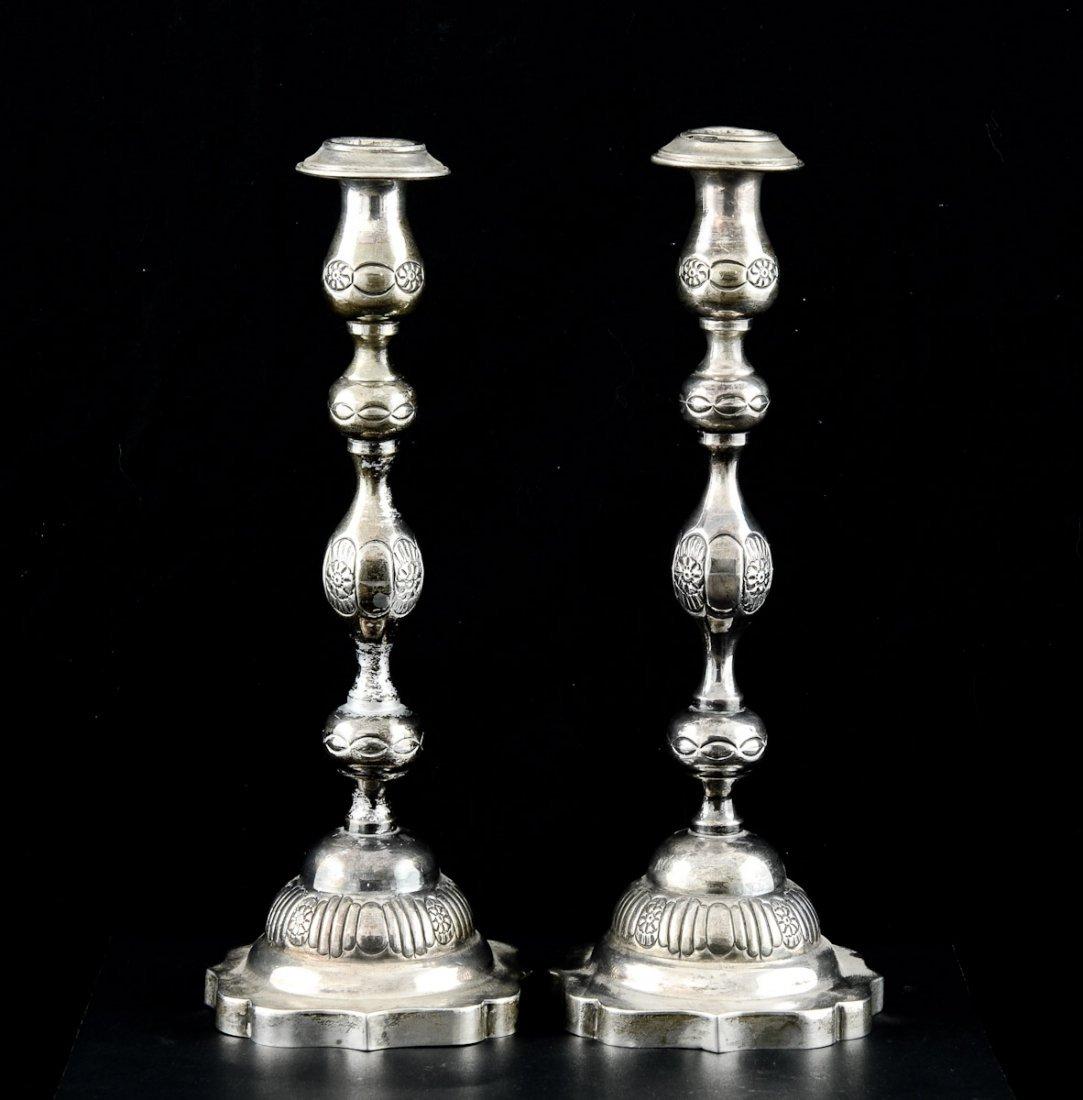 English Silver Candlesticks