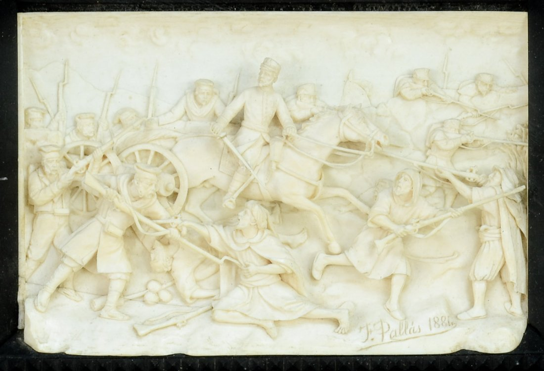 Spanish Carved Ivory Plaque - 2