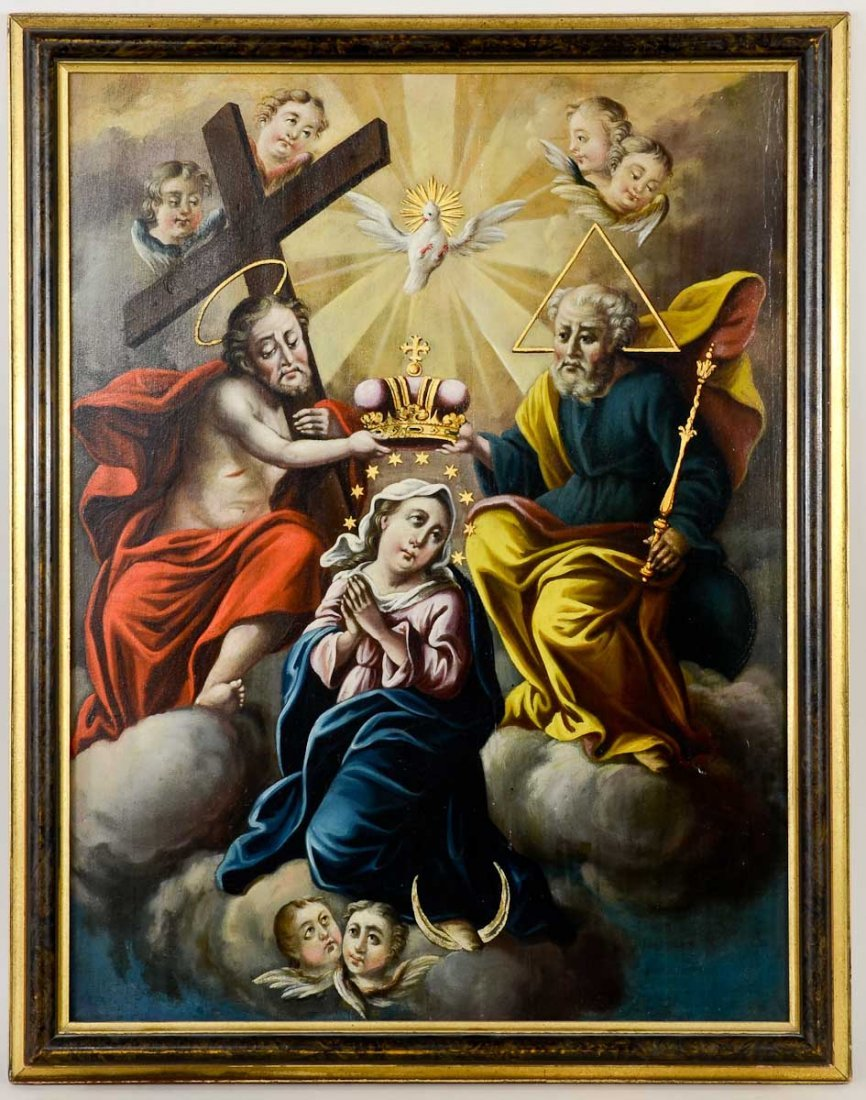 19th Century Religious Painting on board