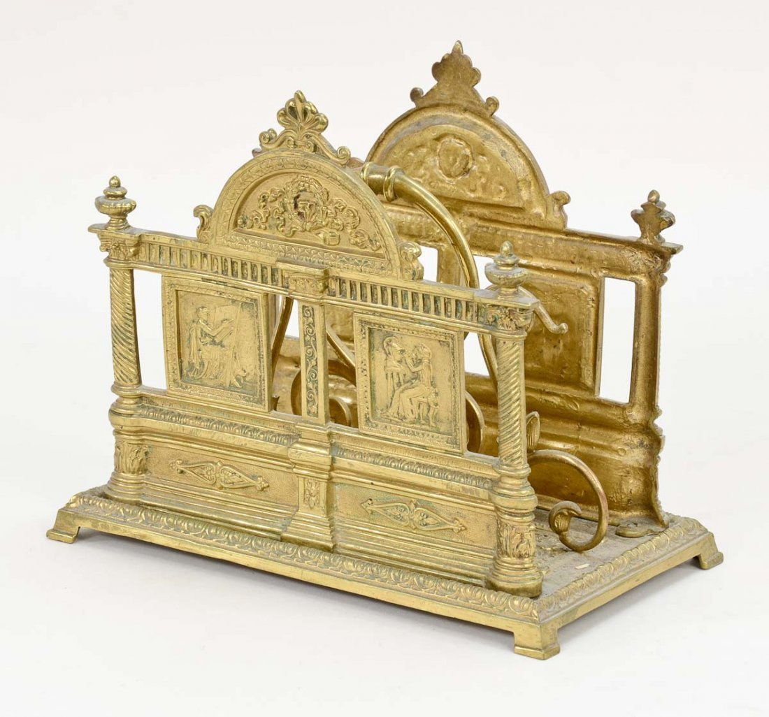 Victorian Brass Letter Holder