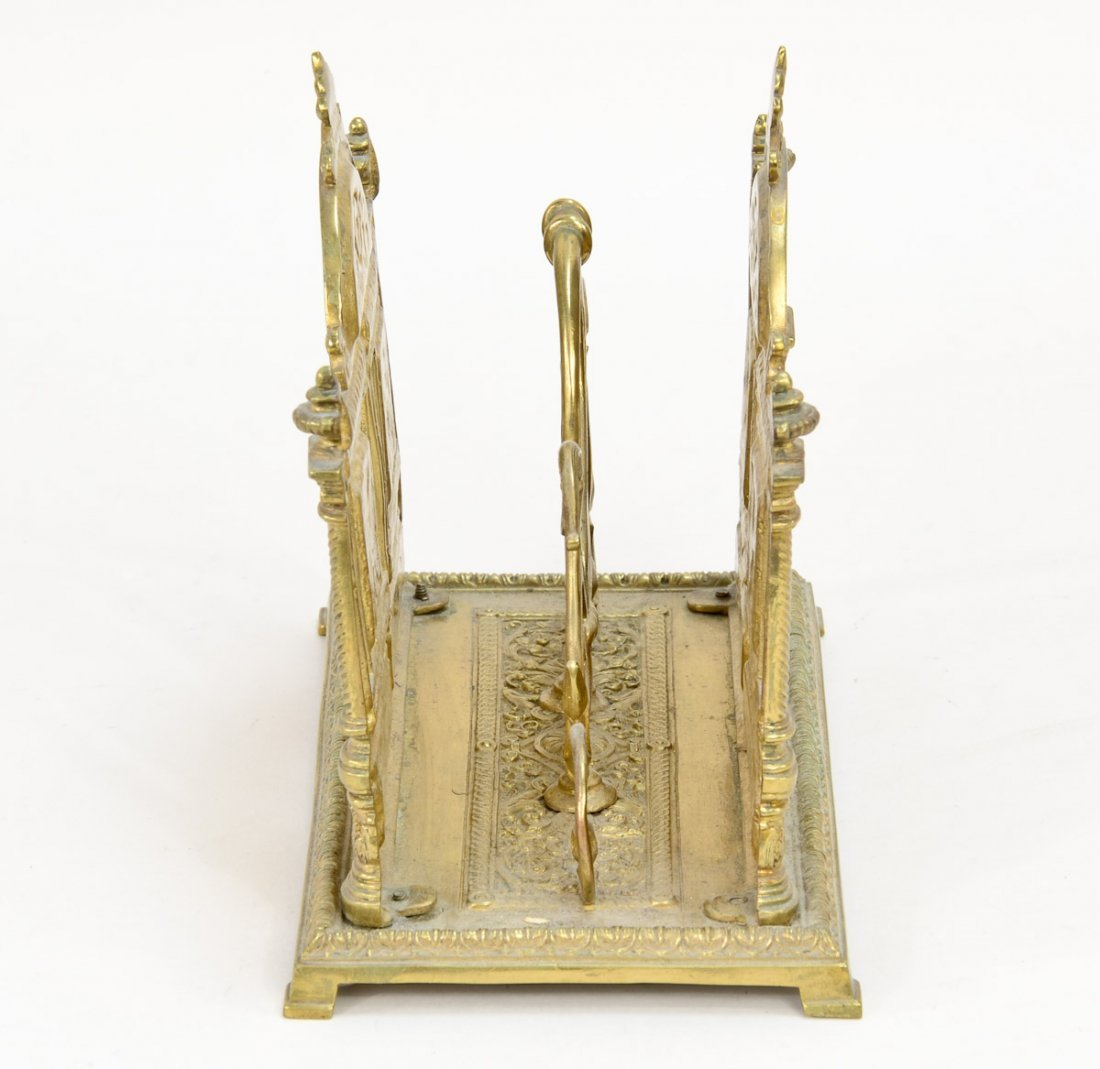 Victorian Brass Letter Holder - 2