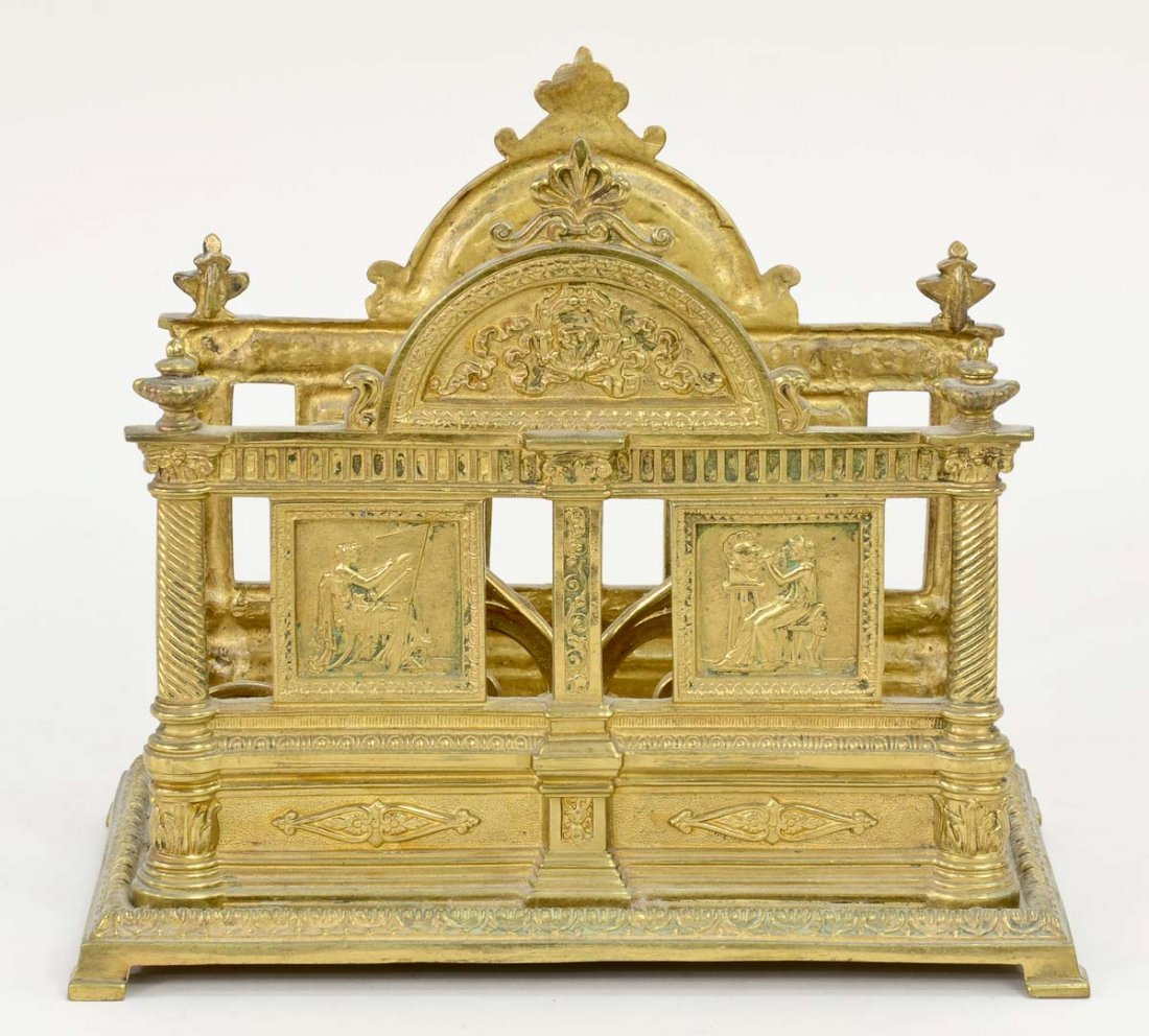 Victorian Brass Letter Holder - 3
