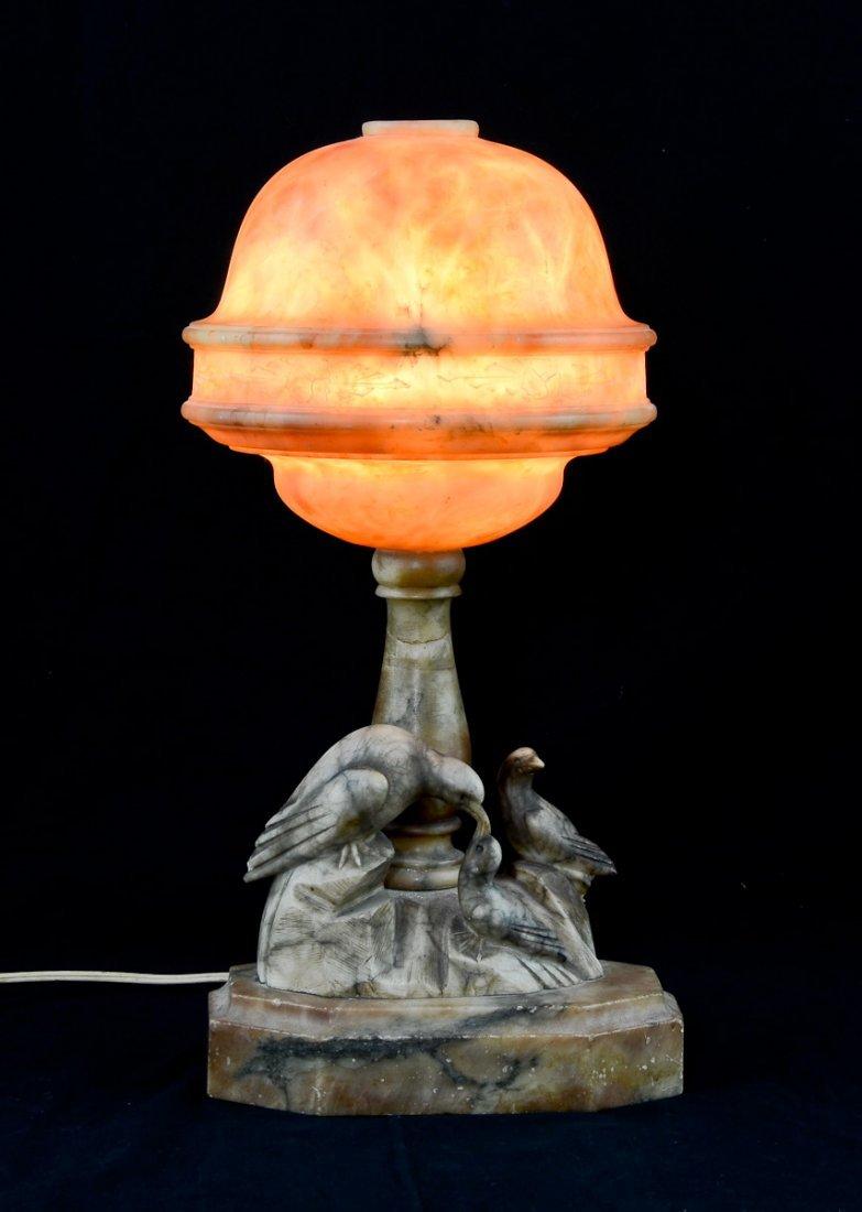 Alabaster Bird Lamp - 2