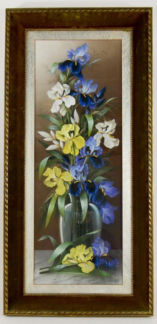 Victorian Floral Still Life, Pastel