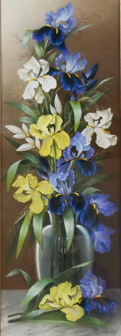 Victorian Floral Still Life, Pastel - 2
