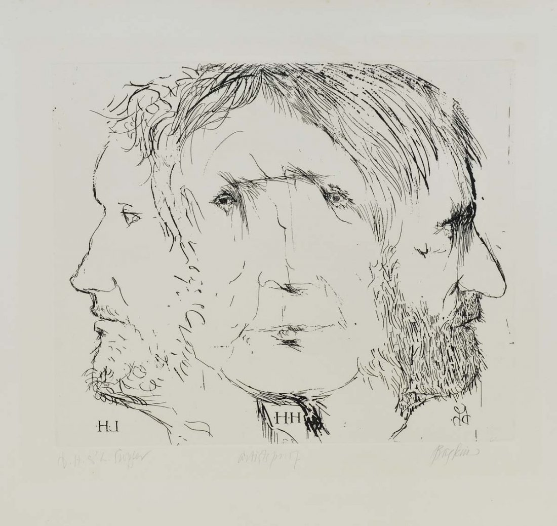 Leonard Baskin Woodcut Print
