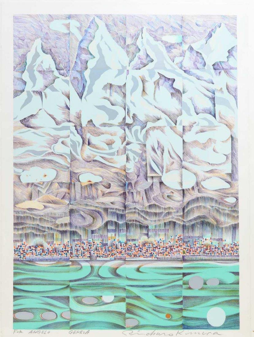 """Risaburo Kimura """"Geneva"""" Silkscreen Print"""