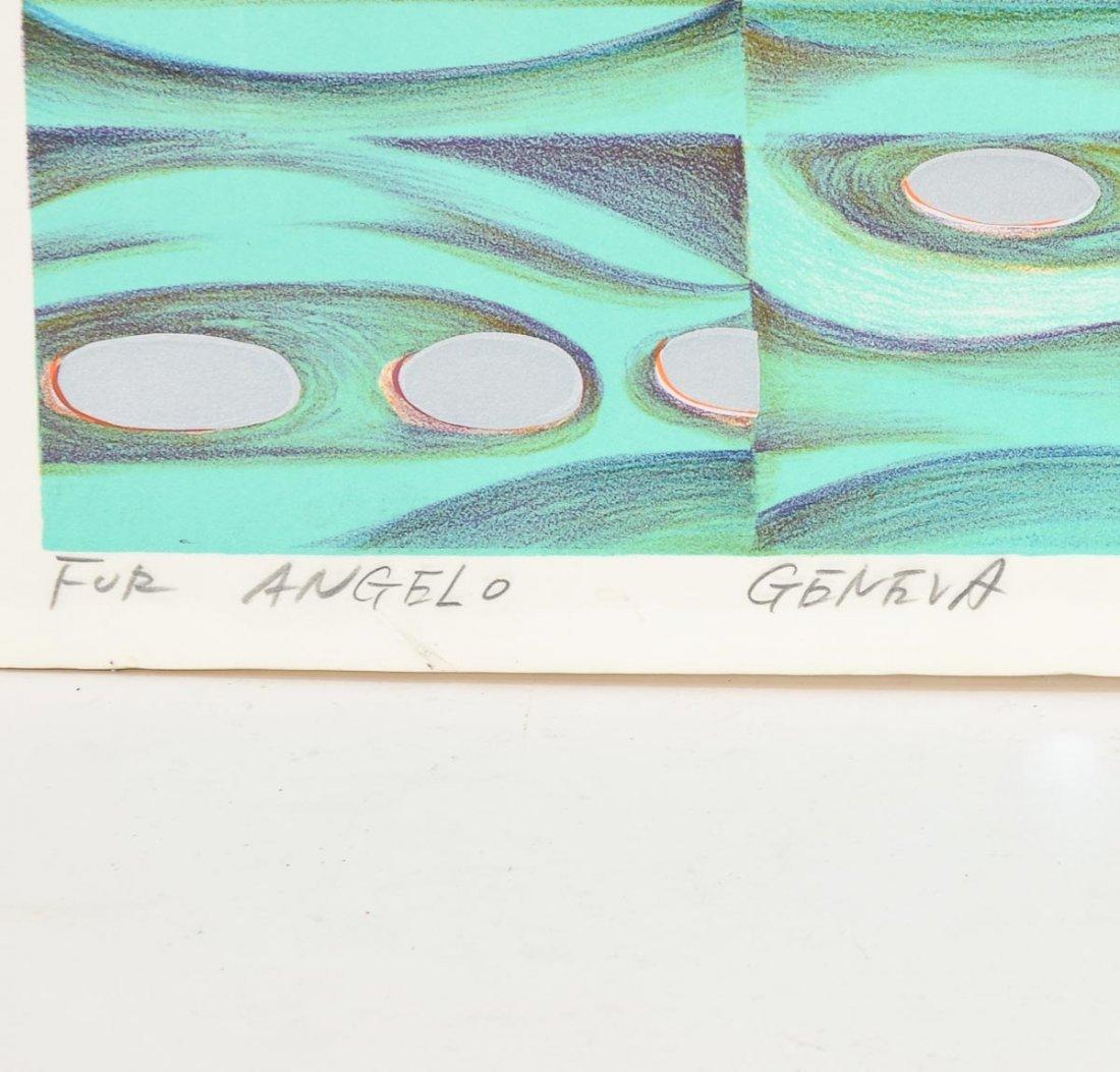 """Risaburo Kimura """"Geneva"""" Silkscreen Print - 2"""