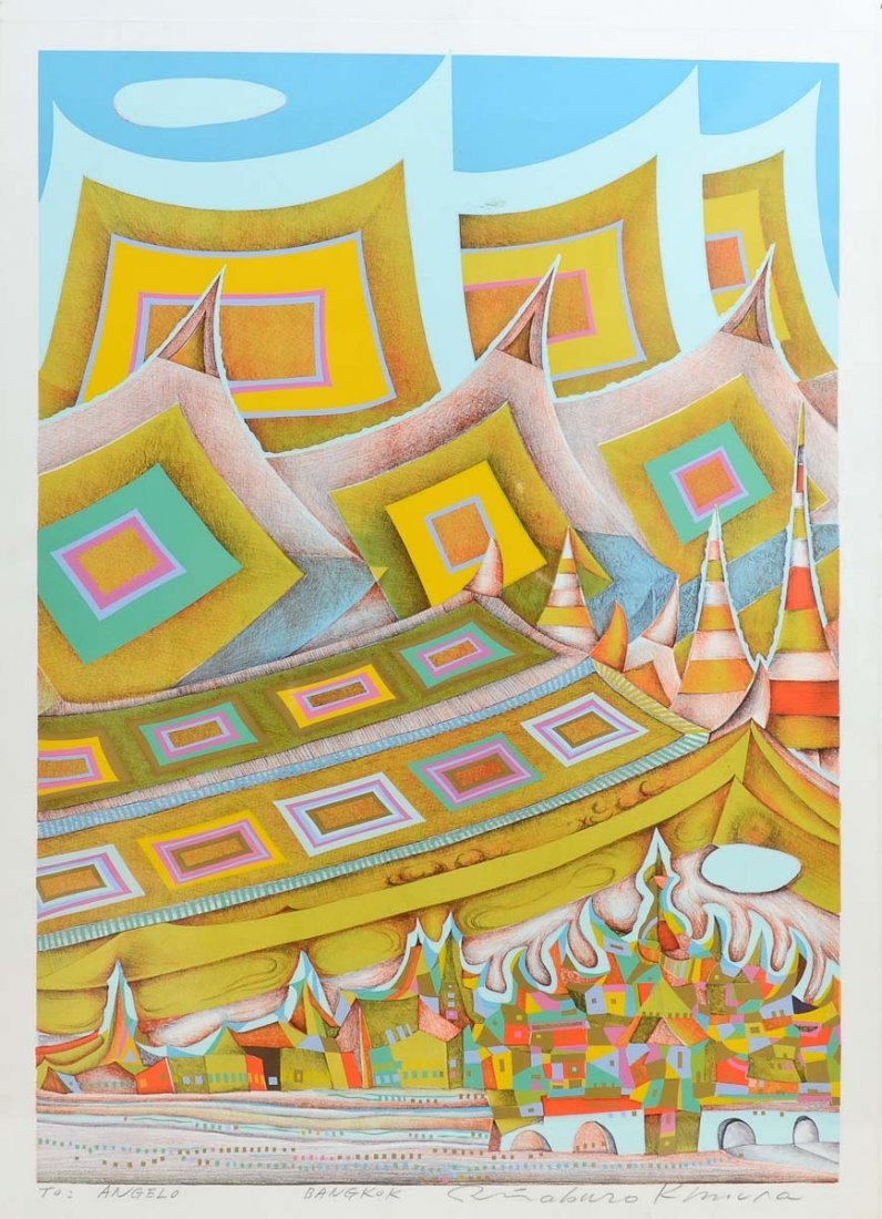 "Risaburo Kimura ""Bangkok"" Silkscreen Print"