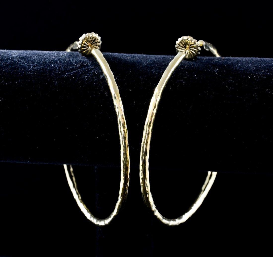 Ladies 18K Ippolita Hoop Earrings