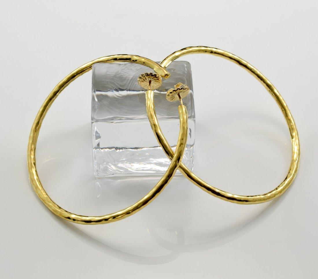 Ladies 18K Ippolita Hoop Earrings - 2