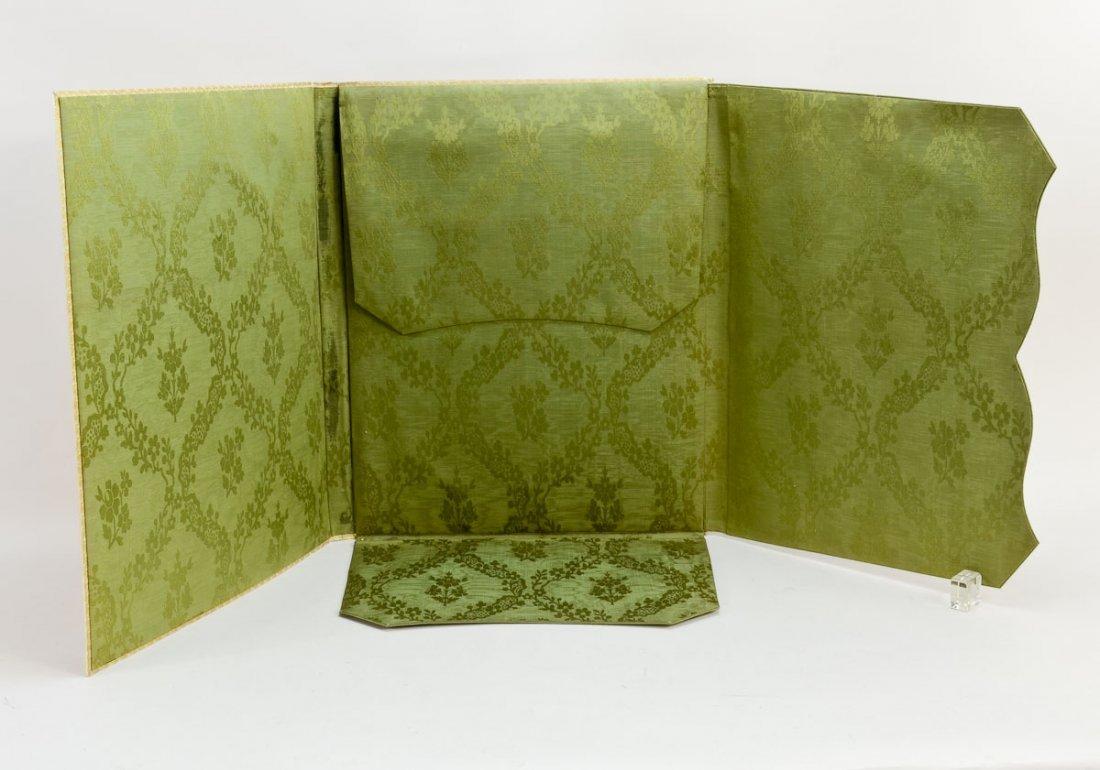 Gilt and Paint Decorated Vellum Folio - 2