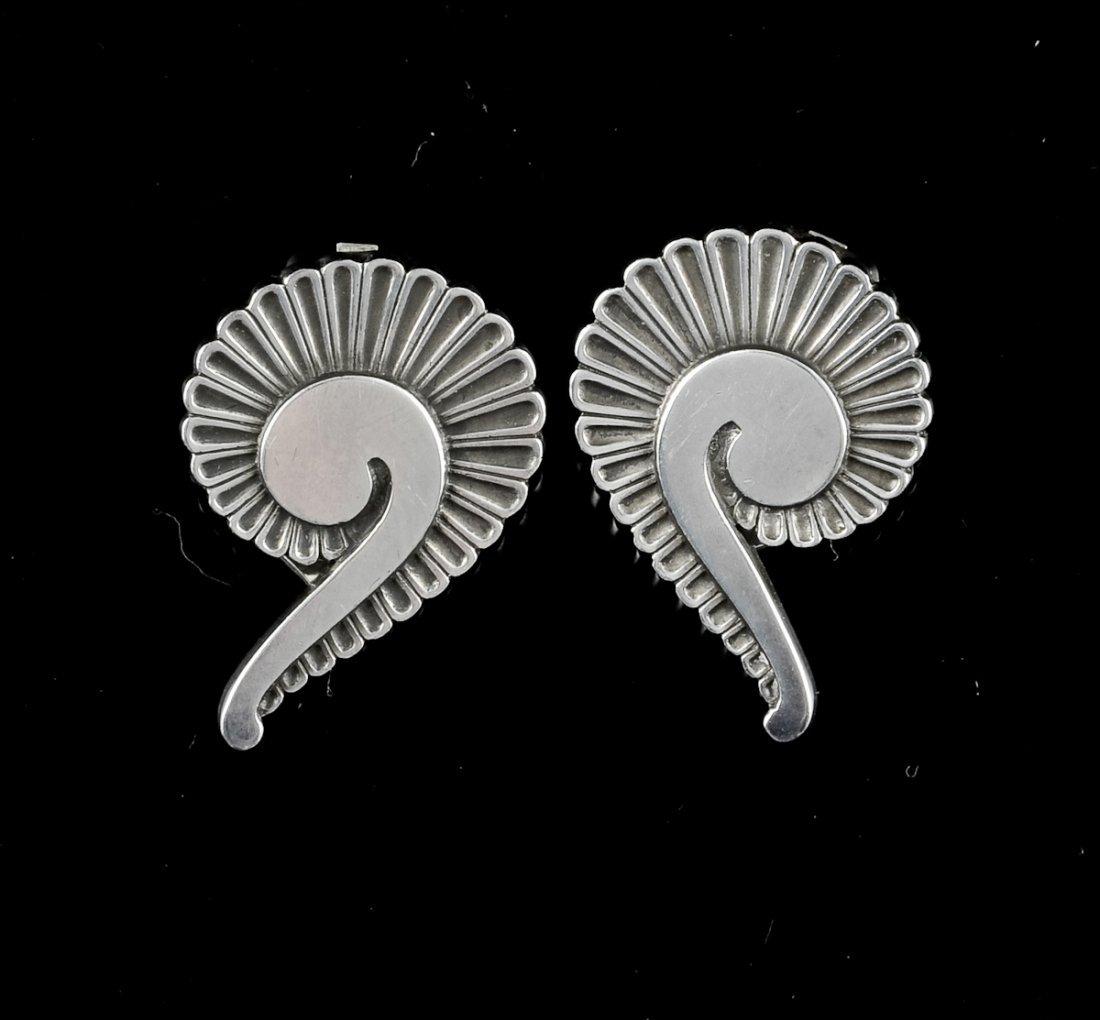 2 Pairs Georg Jensen Silver Earrings - 2