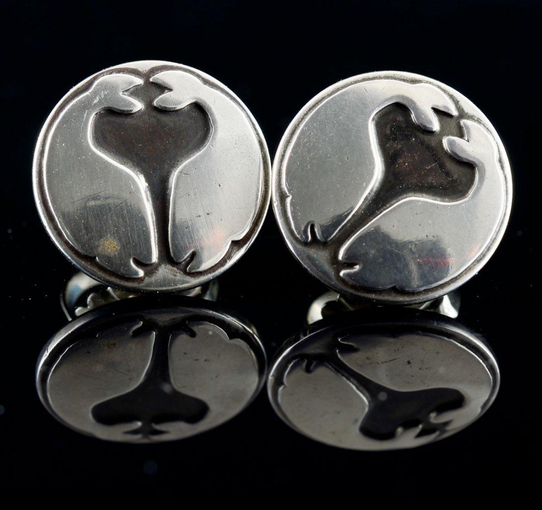 2 Pairs Georg Jensen Silver Earrings - 4