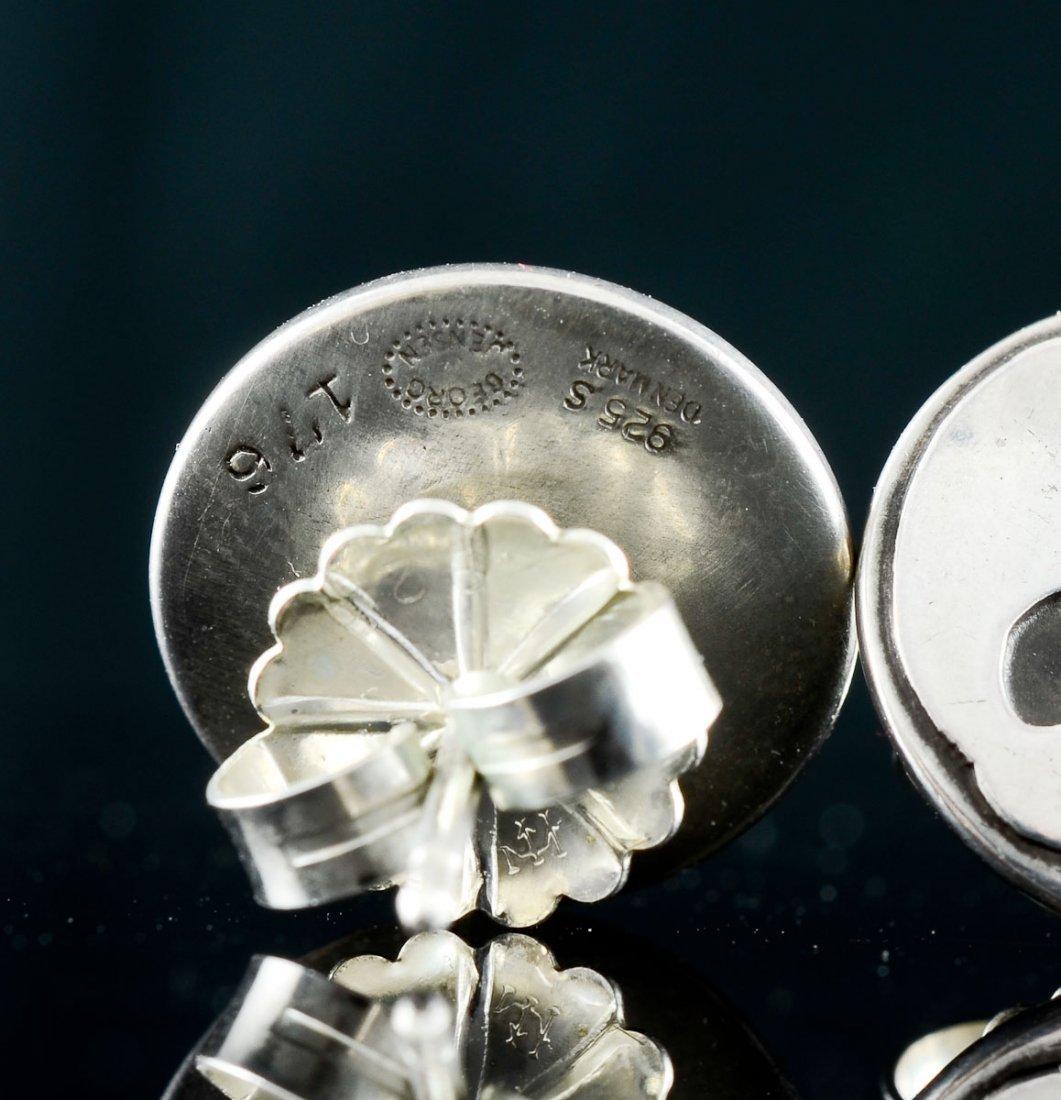 2 Pairs Georg Jensen Silver Earrings - 5