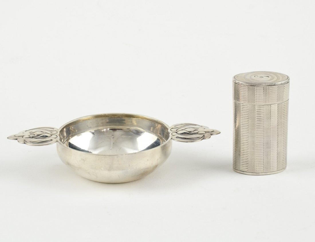 Two Pieces English Silver
