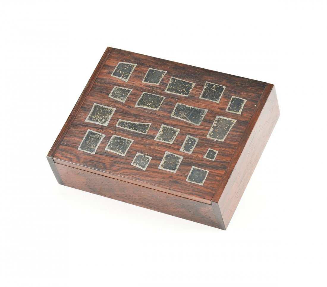 Hans Hansen Silver Inlaid Rosewood Box