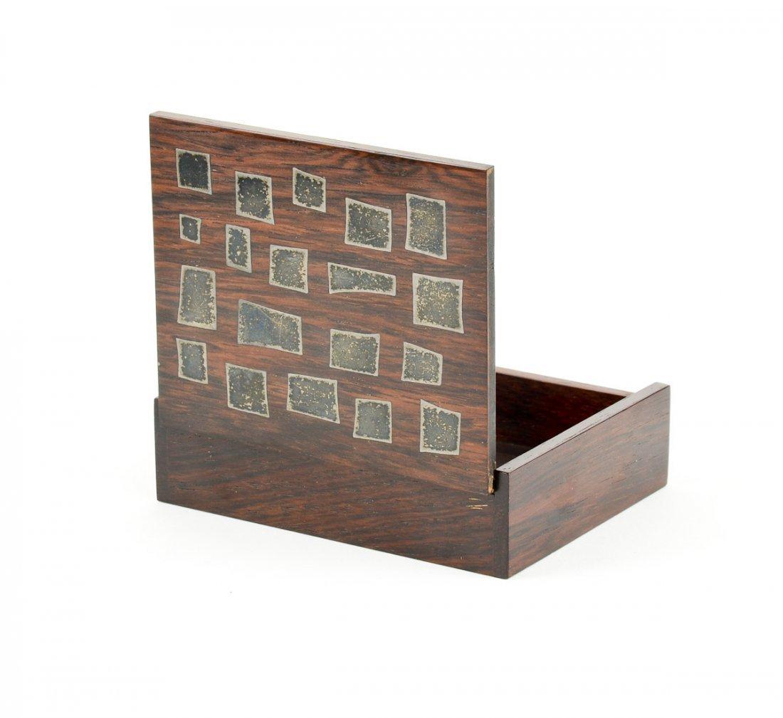 Hans Hansen Silver Inlaid Rosewood Box - 2