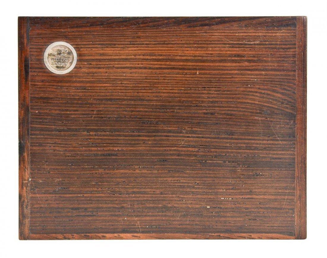 Hans Hansen Silver Inlaid Rosewood Box - 3