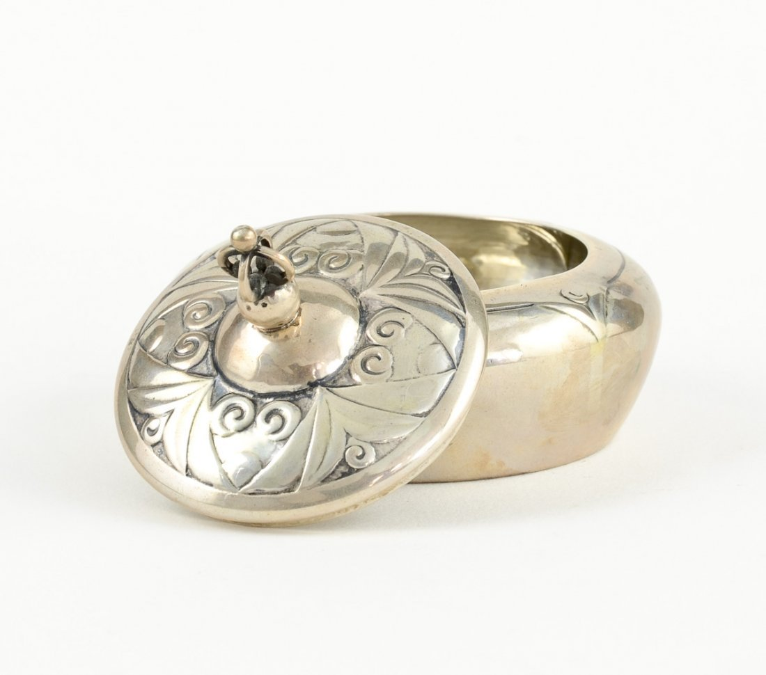 Danish Silver Round Box - 2