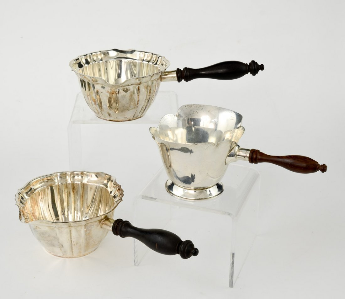 3 Sterling Silver Brandy Warmers