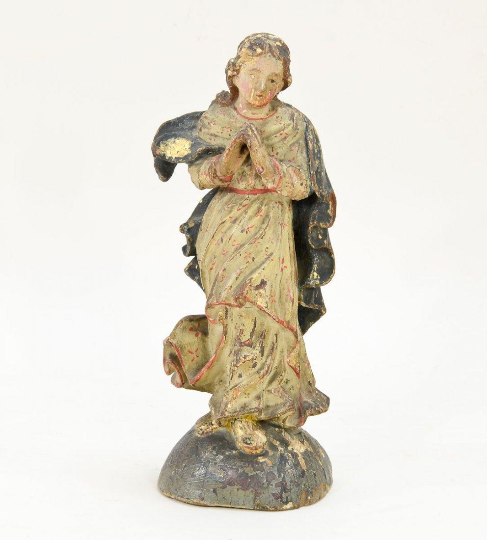 Antique Carved wood angel