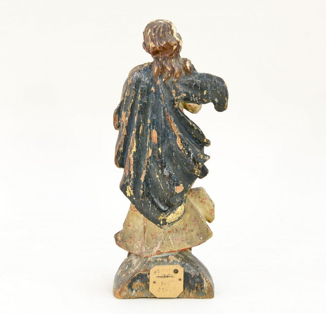 Antique Carved wood angel - 2