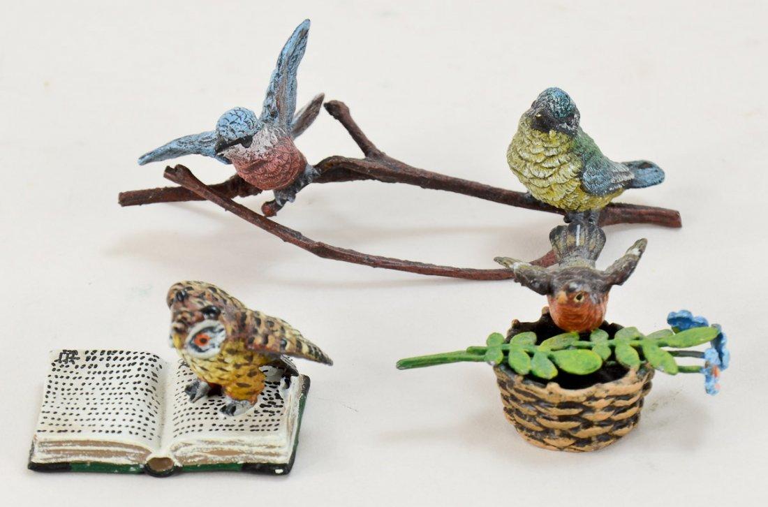 Three Vienna Bronze Bird Figures
