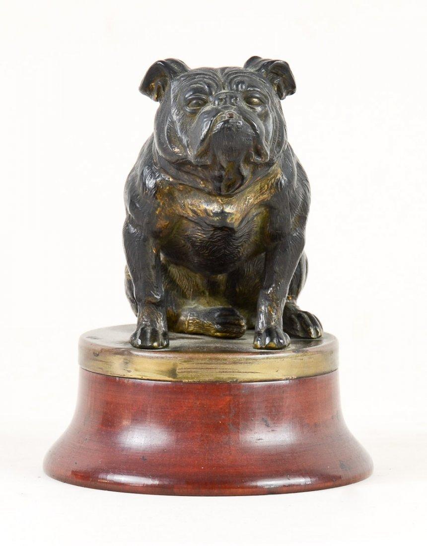 Antique Cast Metal Bulldog