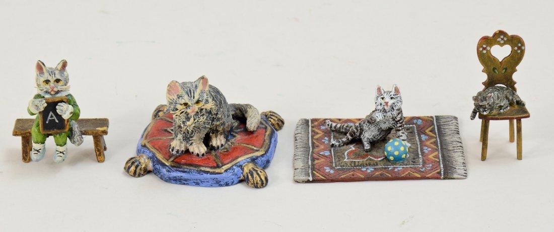 Four Vienna Bronze Cats