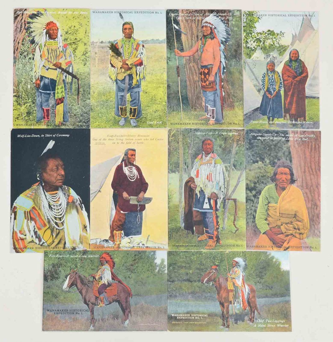 10 Photo Postcards of Native Americans